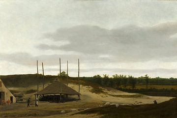 Dünenlandschaft mit Heuhaufen, Pieter Post