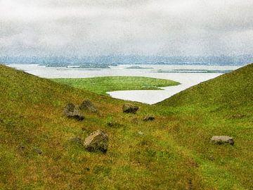 IJsland: Uitzicht op het Muggenmeer van Frans Blok