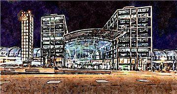 Centraal station Berlijn van Saskia Ben Jemaa