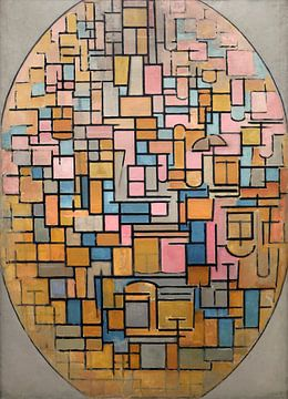 Tableau III: compositie in ovaal, Piet Mondriaan