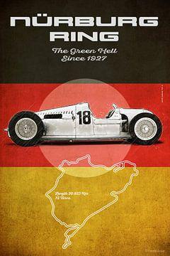 Nürburgring Vintage Auto Union von Theodor Decker