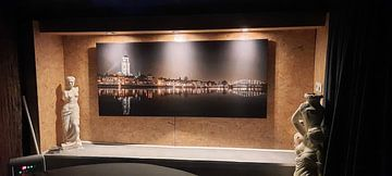 Klantfoto: Skyline Deventer by night van Hans Brasz