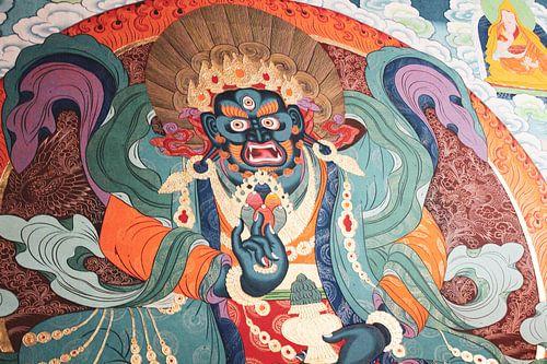 Tibetaanse muurschildering