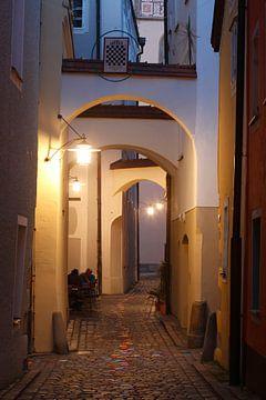 Höllgasse, Abenddämmerung, Passau