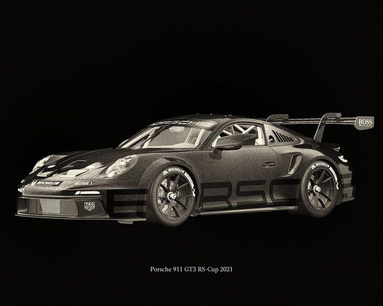 Porsche 911 GT-3 RS 2021 raceversie van Jan Keteleer