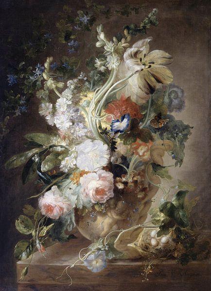Vaas met bloemen, Gevolgd door Jan van Huysum. van Meesterlijcke Meesters