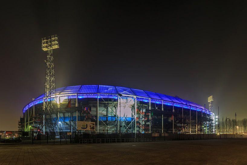 Feyenoord Rotterdam stadion De Kuip at Night - 6 van Tux Photography