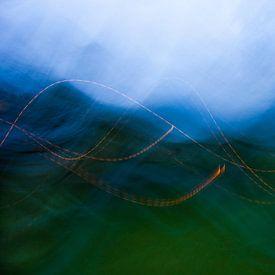 Blue hills in the forrest van Emma Westers