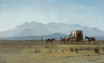 Albert Bierstadt, Vermessungswagen in den Rocky Mountains, 1859 von Atelier Liesjes