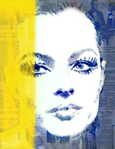 Romy Schneider Yellow Vintage van