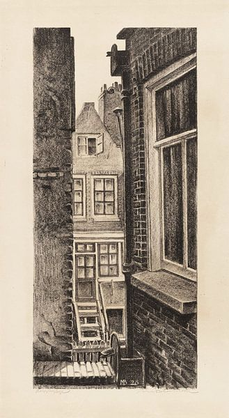 Amsterdam, Doorkijkje, Meijer Bleekrode, 1928 von Atelier Liesjes