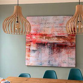 Klantfoto: Sunset Reflection van Atelier Paint-Ing, als print op doek