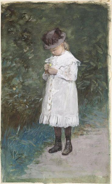 Elisabeth Mauve, dochtertje van de kunstenaar, Anton Mauve van Meesterlijcke Meesters