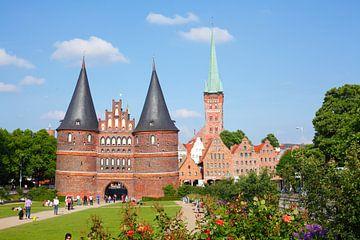 Holstentor, Lübeck, Schleswig-Holstein, Deutschland, Europa von Torsten Krüger