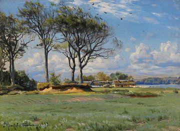 Frühling in einer Landschaft, PEDER MONSTED, 1893 von Atelier Liesjes