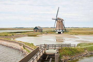 Molen Het Noorden op Texel (liggende versie) van Cor de Hamer