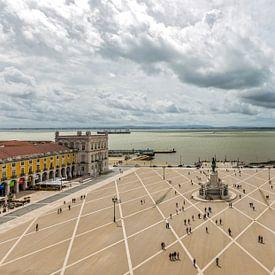 Praça do Comércio à Lisbonne sur MS Fotografie | Marc van der Stelt