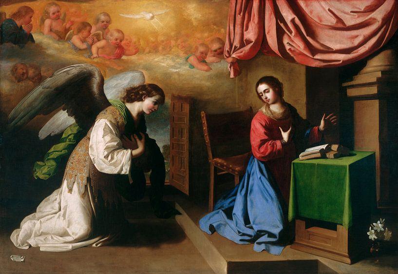 Die Verkündigung, Francisco de Zurbarán von Meesterlijcke Meesters