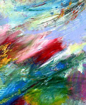 """Abstracte schilderkunst """" lichtheid 2 """" van Claudia Gründler"""