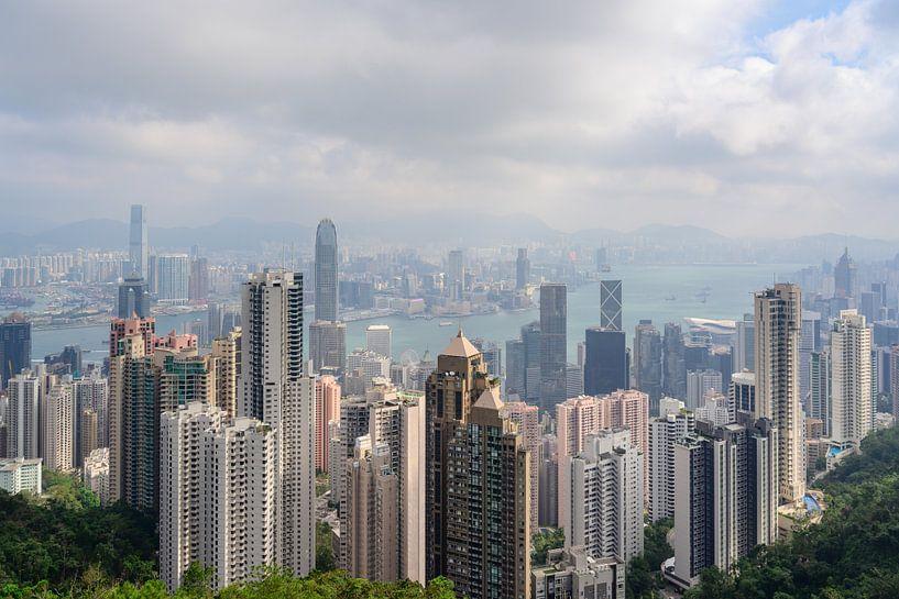 Het uitzicht van Hong Kong van Victoria Peak van Lorena Cirstea