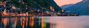 Coucher de soleil à Hallstatt, Autriche sur Henk Meijer Photography
