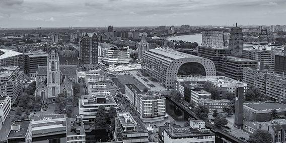 Uitzicht op de Markthal in Rotterdam vanaf de WTC toren van Tux Photography