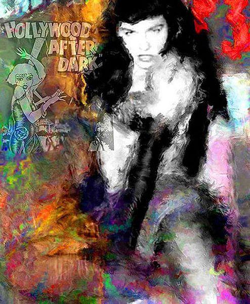 Betty Page   Betty Page Pop Art van Leah Devora