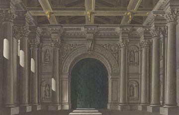 Bühnenbild für die Tragödie 'Die Braut von Messina', Friedrich Jügel, nach Karl Friedrich Schinkel.