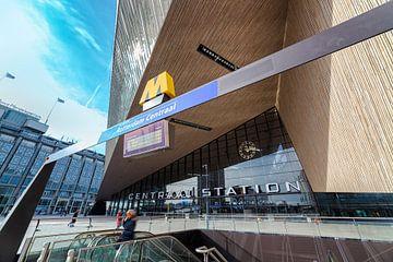 Rotterdam Centraal in perspectief van