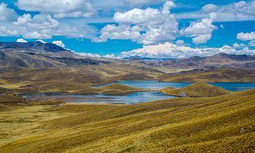 Bergmeer in de Andes, Peru van Rietje Bulthuis