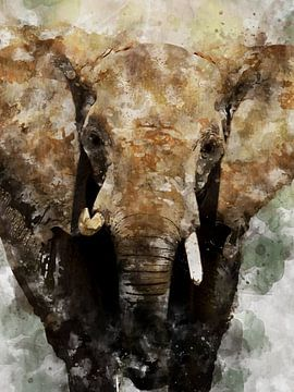 Elefant von Printed Artings