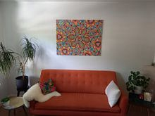 Klantfoto: Leiden caleidoscoop van Jessica Berendsen, op canvas