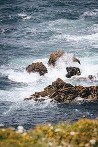 Wellen in Finistere, Bretagne (FR) von Evelien Lodewijks