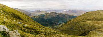 Panoramafoto van Ben Nevis trail, Fort William, Schotland van