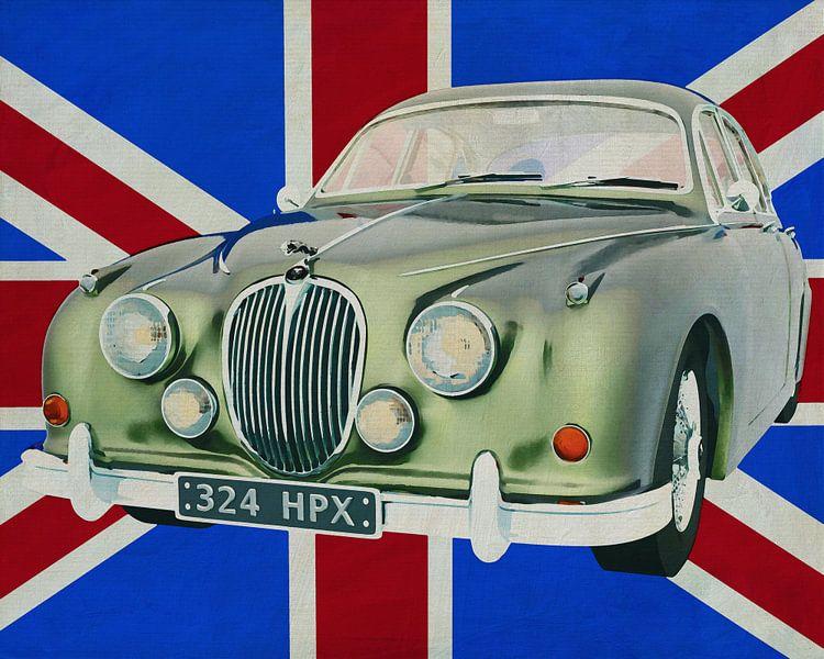 Jaguar MK-Sedan uit 1963 voor de Britse vlag van Jan Keteleer