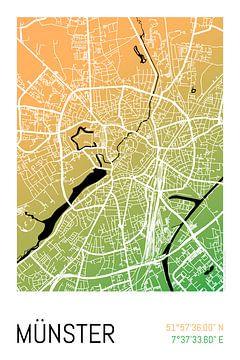 Münster - Stadsplattegrondontwerp Stadsplattegrond (kleurverloop) van ViaMapia