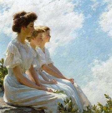 Op hoogte, Charles Courtney Curran - 1909