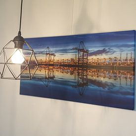Klantfoto: Containerterminal Rotterdam Maasvlakte. van Mario Calma, op canvas