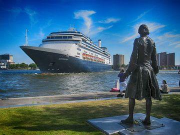 SS Rotterdam met tsaar Peter de Grote van Fons Simons