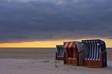 Abends am Strand von Angela Dölling