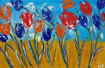 Tulpen (ik hou van Holland) sur Femke van der Tak (fem-paintings)