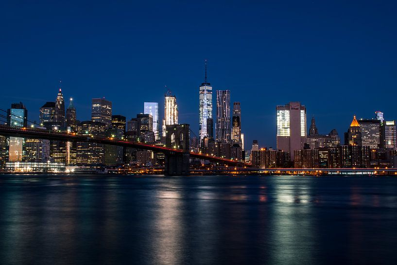 New York City skyline van Thomas Bartelds