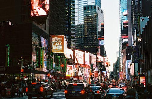 Drukke straat in New York, Verenigde Staten (analoog) van