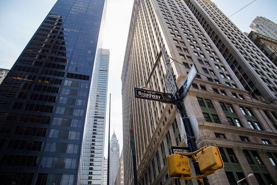 Skyscrapers on Broadway, Manhattan