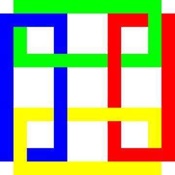 Onder en boven | Permutatie | ID=13 | V=47 | 4xO | P #01-W van Gerhard Haberern