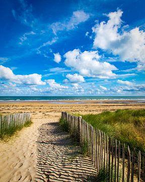 Strandzicht van Peter van Nugteren