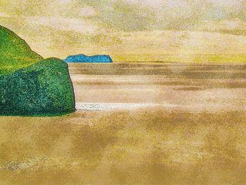 Der Ozean bei Heimaey, Island von Frans Blok