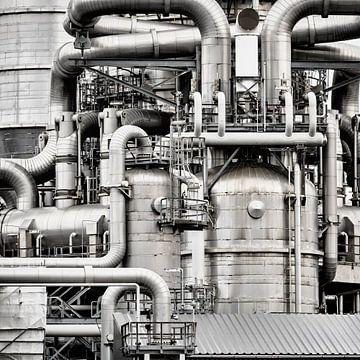 Kraftwerk im Hafen von Rotterdam von Sjoerd van der Wal