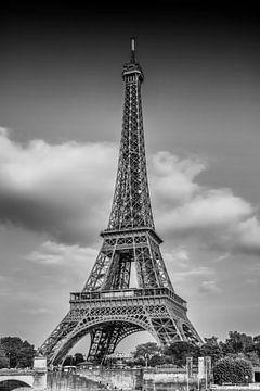 PARIS Eiffelturm | Monochrom von Melanie Viola