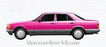 Mercedes-Benz S-Klasse W 126 in pink von aRi F. Huber